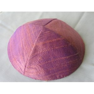 Raw Silk Kippa Kippah Yair Emanuel of Jerusalem
