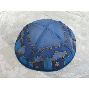 Silk Painted Kippa Kippah by Yair Emanuel