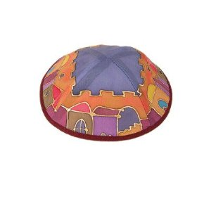 Silk Painted Kippah By Yair Emanuel