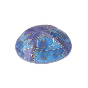 Silk Painted Kippah By Yair Emanuel Vtyas1