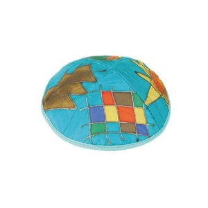 Silk Painted Kippah By Yair Emanuel Vtyas3