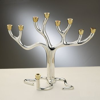 Tree of Life Silverplated Menorah Large