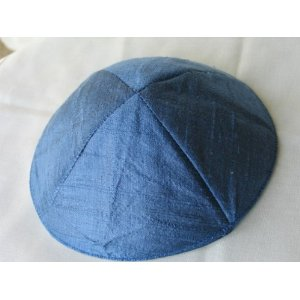 Raw Silk Kippa Kippah by Yair Emanuel of Jerusalem