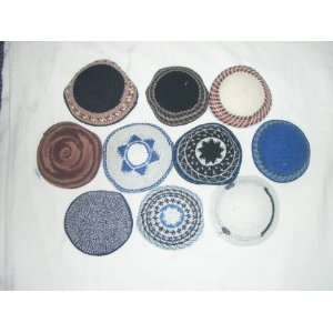 Lot Of 10 KNIT KIPPA KIPPAH kippot YARMULKES NEW S